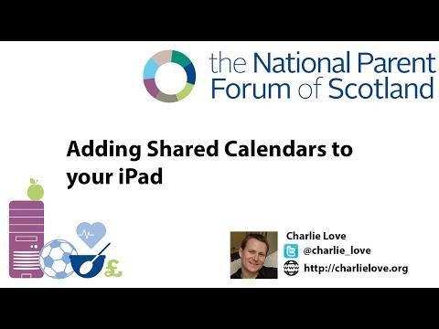 NPFS Adding Shared Google Apps Calendar to iPad