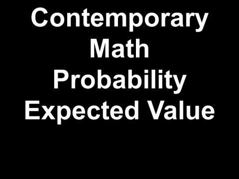 Contemporary Math Probability Expected Value