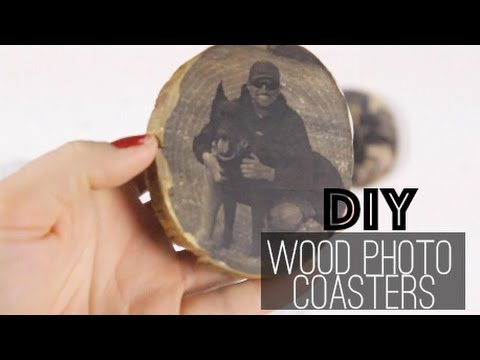 DIY Pictures on Wood Coasters || Nikki Bahan