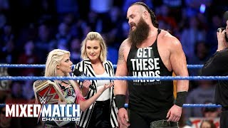 "Alexa Bliss thinks Braun Strowman is ""kinda cute"" on WWE Mixed Match Challenge"