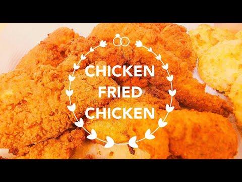 Chicken Fried Chicken and Cheddar Biscuits Recipe