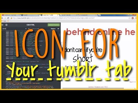 How To Get A Favicon On Your Tumblr Tab