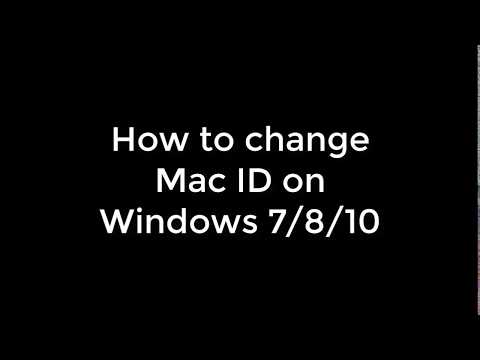 How to change your Mac Address - Windows 7/8/10 - Done easy.