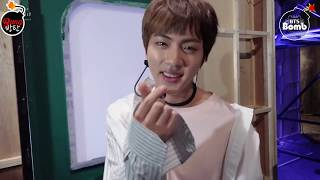[Sub Español] [BANGTAN BOMB] Jin's Q&A time M countdown comeback stage of 'Spring Day' -  BTS