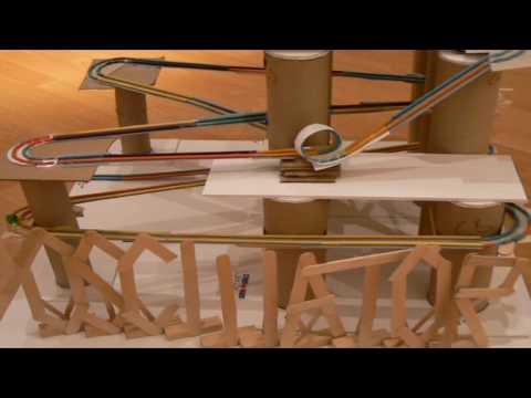 The Oscillator - A Marble Roller Coaster