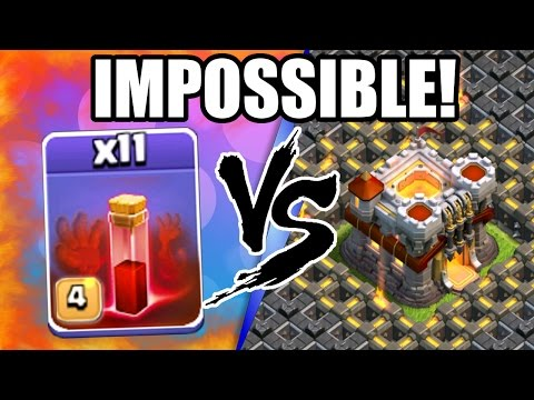 Clash Of Clans | ALL SKELETON SPELLS vs TOWN HALL 11! | INSANE CoC ATTACK STRATEGY 2016!