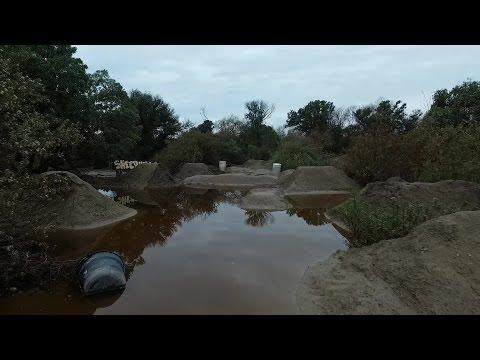 Flooded sheephills bmx dirt jumps