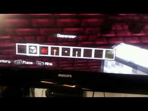How to make automatic dispenser on minecraft ps3