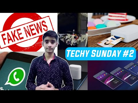 Techy Sunday #2 -  Transparent Phone, Xiaomi Photo Printer, Foldable Drone, Whatsapp, ...  Tech news