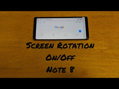 How to rotate screen Note 8