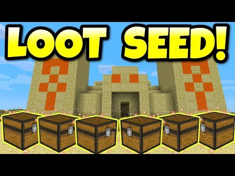 Minecraft THE BEST SEED EVER! 6 Desert Temples & 7 Villages PS3, PS4, Xbox One, Xbox 360