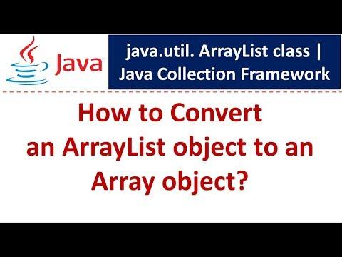 Java : Collection Framework : ArrayList (Convert to Array Object)