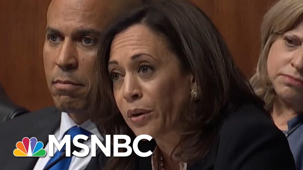 WATCH: Sen. Kamala Harris, Showing Off Prosecutorial Prowess, Puts AG Barr On His Heels | MSNBC