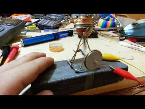 solenoid coil motor made of paper clips and magnetic wire