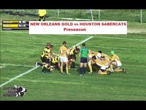 New Orleans Gold vs Houston Saber Cats (Preseason 2018)