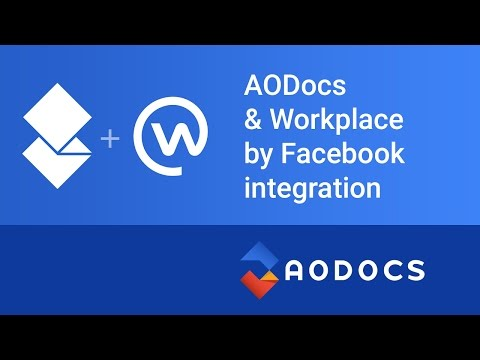 AODocs integration with Facebook Workplace