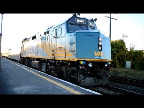 VIA RAIL TRAINS IN MONTREAL QUEBEC