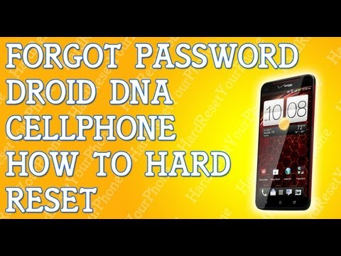 Forgot Password HTC Droid DNA How To Hard Reset