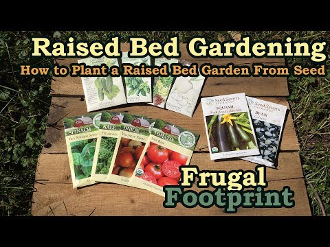 Raised Bed Gardening - How to Plant a Raised Bed Garden From Seed