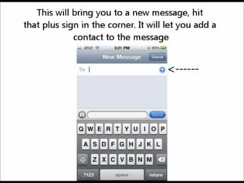 Easy Group Messaging iPhone 4