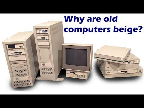 Why are old computers beige?