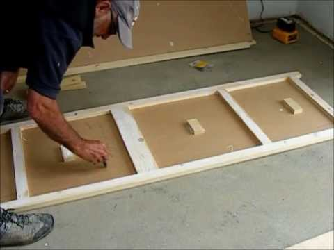 Make a pair of flush wardrobe doors