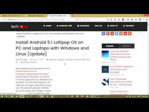 How to Install Android Marshmallow , Lollipop in Computer / PC with