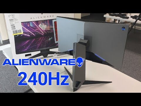 Alienware 240Hz Gaming Monitor Unboxing and Review in 4K