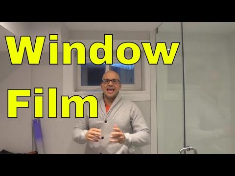 Installing A Window Film On A Bathroom Window-Gila Window Film