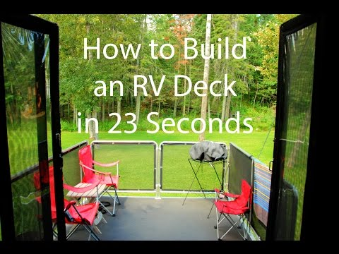 How to Build an RV Deck in 23 Seconds