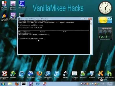 How To Bypass/Hack A Windows 7 Administrator Account (CMD)