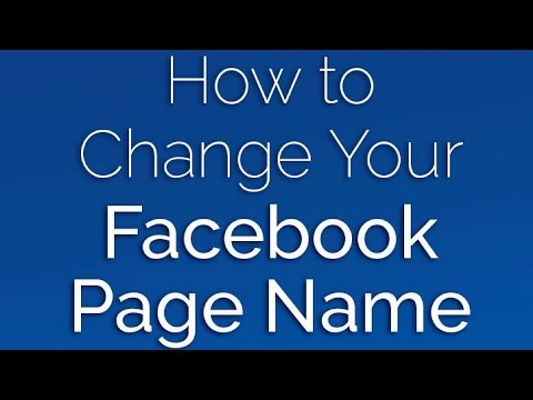 How To Change Facebook Fan Page Name [EASY TUTORIAL]