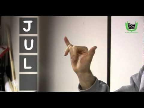 Days Months Seasons in Irish Sign Language