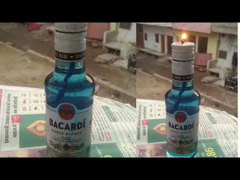 Alcohol Candle!! How to make oil lamp candle!!