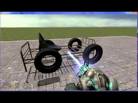 Garry's Mod: Tutorial - How to make a simple car that is able to steer -