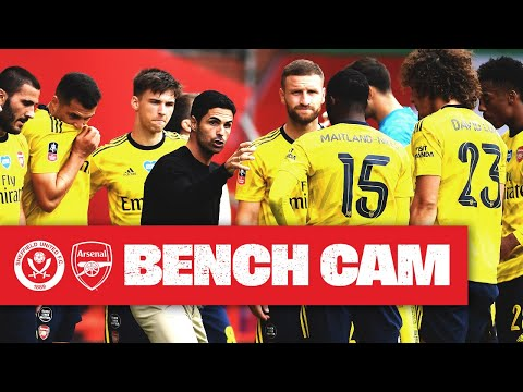 BENCH CAM | Sheffield United 1-2 Arsenal | Emirates FA Cup
