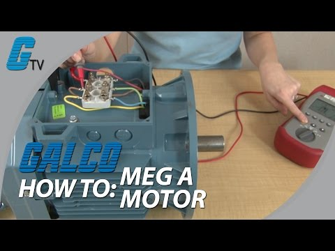 How to Meg a Motor with a Megohmeter - Checking Motor Condition