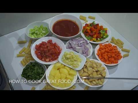 Vegetable Pasta Soup Recipe - Vegan