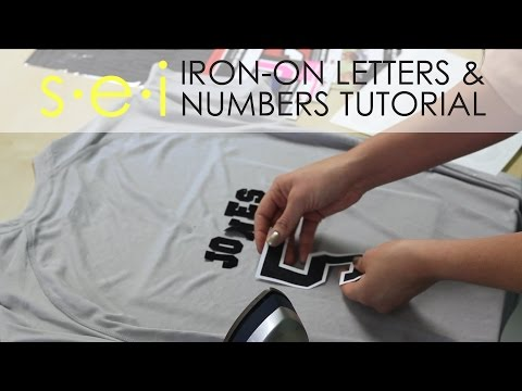 DIY Team Shirt Jersey: Numbers and Letters, SEI Crafts