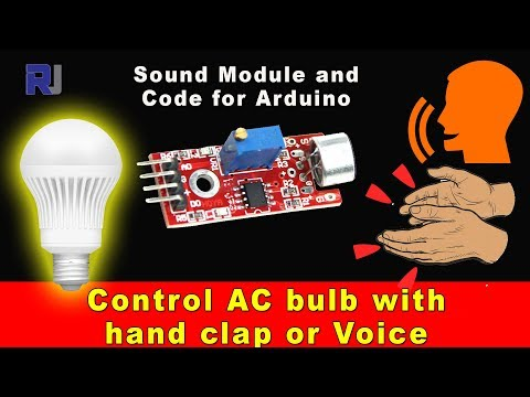 Control AC bulb with hand lap and voice with Arduino