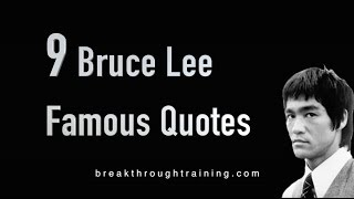 9 Bruce Lee Famous Quotes