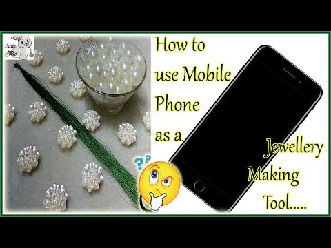 #165 How to Make Pearl Beaded Silk Thread Necklace || Diy || Jewellery Making
