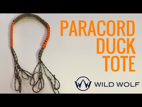 Paracord Duck Tote - DIY Game Carrier for all Waterfowl Hunters