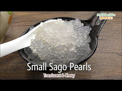 How to Cook Small Sago Pearls-Translucent & Chewy | MyKitchen101en
