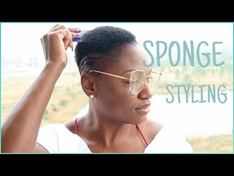 SPONGE STYLING FOR TWA//HOW TO ADD TEXTURE TO SHORT NATURAL HAIR