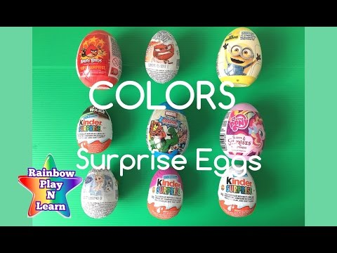 LEARN HOW TO SPELL COLORS WITH KINDER SURPRISE EGGS RAINBOW COLOURS FUN TOY VIDEO FOR KIDS Part 2