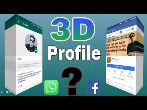 3D WhatsApp and Facebook Profile