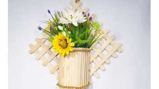 wall flower vase from popsicle sticks Videos - 9tube.tv on ice cream sticks lamps, ice cream sticks crafts, ice cream sticks chair,