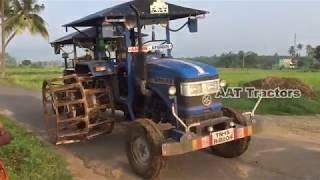 Swaraj 744 Tractor Pulling Sonalika Tractor With Cage Wheel   Tractor Stunt Videos