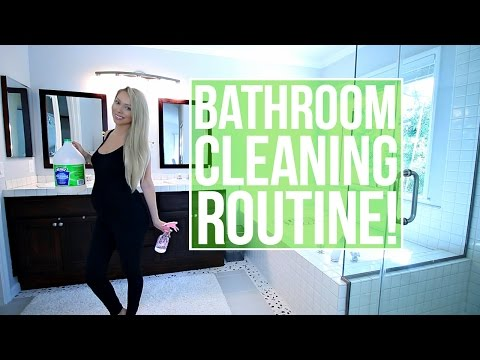 How To Clean Your Bathroom! My Bathroom Cleaning Routine